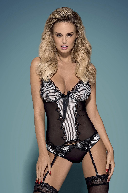 Bardzo kobiecy gorset Greyla to idealna propozycja na gorącą noc!